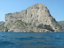 Crimea. Mountain Koba-Kaya. Trail `Golitsyn`. Crimea. The Resort`s `New World`. Tourist attraction `Trail `Golitsyn`. The black sea royalty free stock photos