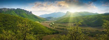 Crimea mountain valley Royalty Free Stock Image