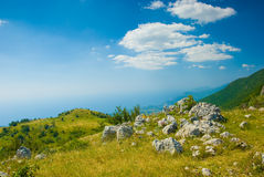 Crimea mountains. Summer mountain landscape in Crimea, Ukraine Stock Image