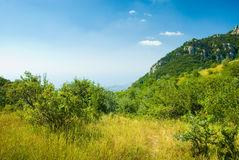 Crimea mountains. Summer mountain landscape in Crimea, Ukraine Royalty Free Stock Images