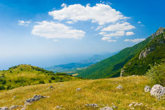 Crimea mountains. Summer mountain landscape in Crimea, Ukraine Royalty Free Stock Photography