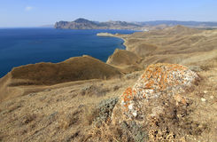 The Crimea mountains in autumn. View of autumn landscape in the Crimea mountains, Ukraine Stock Image