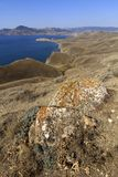 The Crimea mountains in autumn. View of autumn landscape in the Crimea mountains, Ukraine Royalty Free Stock Image