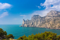 Crimea mountains and Black sea landscape Royalty Free Stock Image