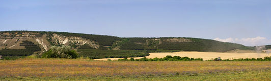 The Crimea mountains. The Crimea mountains landscape taken in Sudak Stock Images