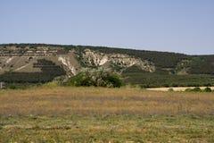 The Crimea mountains. The Crimea mountains landscape taken in Sudak Royalty Free Stock Images