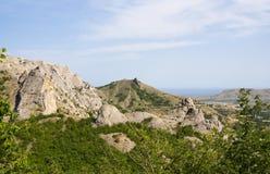 The Crimea mountains. The Crimea mountains landscape taken in Sudak Stock Photography