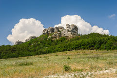 Crimea mountains near Eski Kermen Royalty Free Stock Image