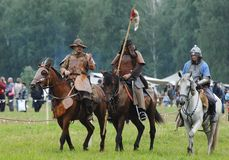Crimea mounted cavalry 1572 Royalty Free Stock Images