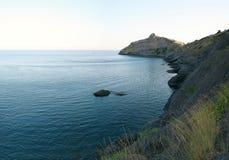 Crimea, Novy Svet. Mountain Dolphin, Golitsyn trail, panoramic Stock Photography