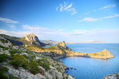 Crimea. Novyj Svit reserve in Black Sea, Crimea, Ukraine stock photography