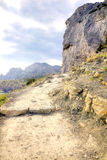 Crimea. Path through mountains Royalty Free Stock Images