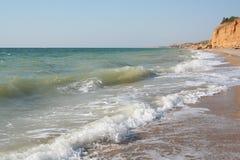 Crimea peninsula. Coastline of Black sea Stock Photos