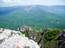 Crimea. This photo was made in Crimes mountains. It's a beautiful landscape Stock Photography