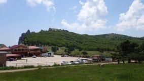 Crimea. on the plateau of mount AI-Petri. Crimea. life on the plateau of mount AI-Petri royalty free stock image