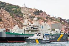 crimea podpalany okręt wojenny Ukraine Obraz Royalty Free