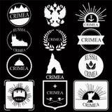 crimea Retro rocznik insygnie, logotypy ustawiający lub Projekt Zdjęcia Royalty Free