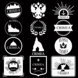 Crimea. retro vintage insignias or logotypes set.  design Royalty Free Stock Photos