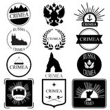 Crimea. retro vintage insignias or logotypes set.  design Stock Image
