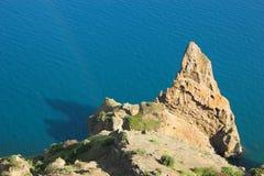Crimea, rock, sea Stock Photos