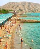 Crimea sea beach scene, Ukraine Stock Photography