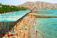 Crimea sea beach, Ukraine Stock Images