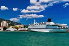 Crimea sea port ship Stock Photography