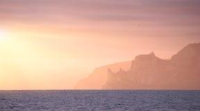 Crimea sea sunset Stock Image