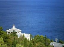 Crimea. Sea. View of the Black sea from the Imperial track (Crimea Stock Image