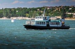 Crimea. Sevastopol. old pleasure boat on the sea. Ukraine. Crimea. Sevastopol. old pleasure boat on the sea Royalty Free Stock Photography