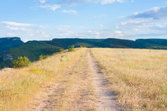 Crimea steppe Stock Photo