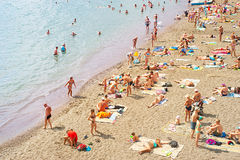 Crimea summer beach scene Stock Photo