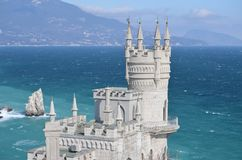 Crimea. swallow's Nest. Beautiful old castle in the sea Royalty Free Stock Image
