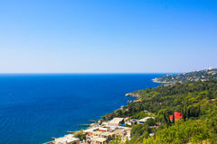 crimea Sydkust Black Sea royaltyfri foto