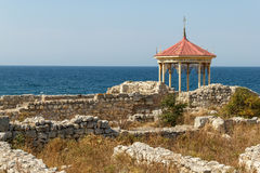 Crimea, Tauric Chersonesos. A chapel on the place of a baptism of the Saint prince of Vladimir Royalty Free Stock Images