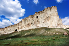 Crimea. Travel and leisure in the Crimea, white cliffs Stock Image