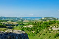 Crimea valley Stock Images