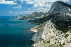 Crimea. View of the  Novy Svet. Stock Photo