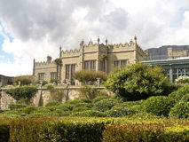 Crimea. View of the Vorontsov Palace in Alupka Stock Image