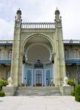 Crimea Vorontcovskiy slott arkivfoto