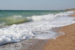 Crimea. Waves on Black sea Stock Photos