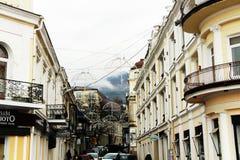 crimea yalta Invallning i Yalta Arkivfoto