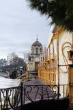 crimea yalta Invallning i Yalta Arkivbilder