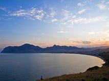 Crimean afton Royaltyfria Bilder