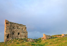 Crimean ancient fortress sunset view (Ukraine) Stock Photography