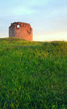 Crimean ancient fortress sunset view (Ukraine). Royalty Free Stock Photography