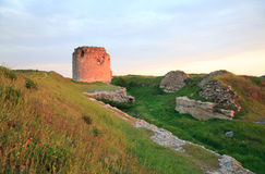 Crimean ancient fortress sunset view (Ukraine) Stock Image