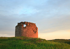 Crimean ancient fortress sunset view (Ukraine). Royalty Free Stock Photo