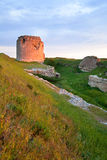 Crimean ancient fortress sunset view (Ukraine) Stock Images