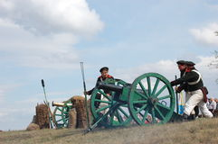 crimean artilleri kriger Royaltyfria Bilder